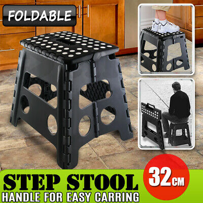 """Folding Step Stool Portable Plastic Foldable Chair Store Flat Outdoor 15"""" 39CM"""