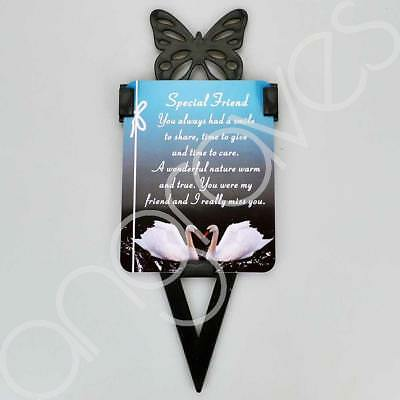 Special Friend Memorial Remembrance Verse With Grave Butterfly Ground Stake