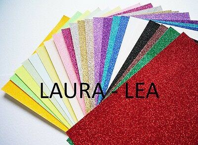 A4 Glitter Card soft touch low shed 1 sheet available in a wide range of colours