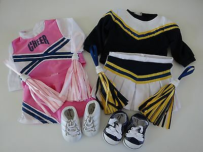 """NEW-DOLL/ 2 Cheerleader Outfits fit 18"""" Dolls such as American Girl - Lot #8"""