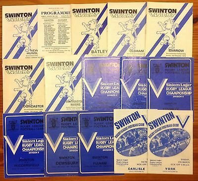 Swinton Rugby League Programmes 1979 - 1994