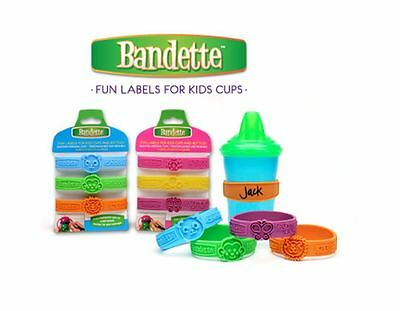 Label Itz Reusable Waterproof Personalized Bandette Sippy Cup Labels Day Care