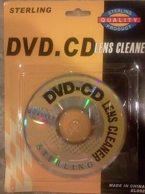 Lot of 2 Dvd Lens Cleaners By Sterling. New