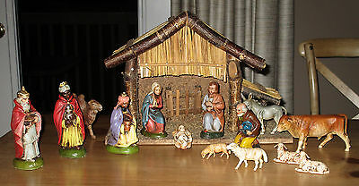 Vintage Crèche - Nativity Set & Stable- Made in West Germany