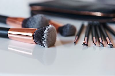 Casper & Lewis - Rose Gold Makeup Brushes - Eye Set with Clutch Pouch