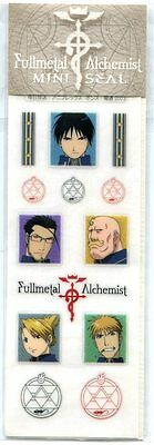 Fullmetal Alchemist plastic sticker official movic Maes Roy Mustang Riza anime