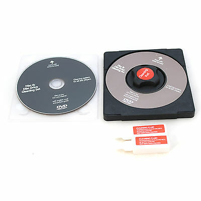 CD and DVD Disc Cleaning Set With Cleaning Solution and Pad Laser Lens Cleaner