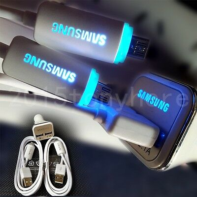 OEM 2.1A LED Dual USB Ports Adaptive Fast Charging Car Charger+Micro-USB Cable