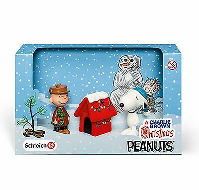 SCHLEICH PEANUTS BOX SET - Christmas - 22017 (Snoopy, Charlie Brown and Kennel)