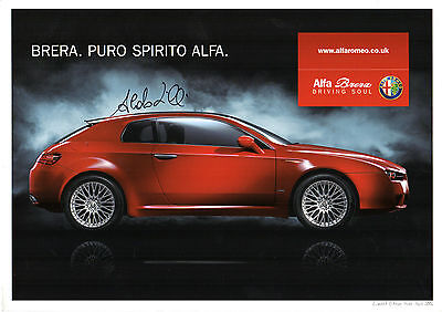 Alfa Romeo Brera 2006 UK Market Limited Edition Print Brochure (Signed)