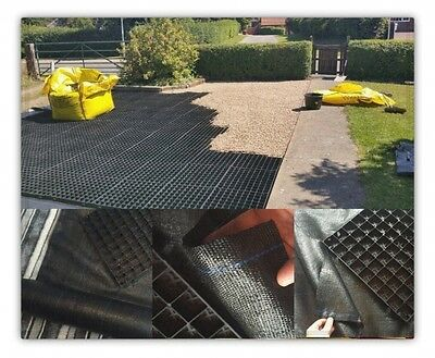 Driveway Grid 30 Sqm & Membrane Kit Permeable Eco Parking Gravel Drive Stability