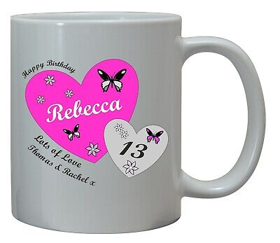 Personalised Girls 13Th Birthday Gift Mug Cup Coaster Teenager Daughter Niece