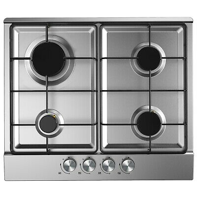 Cookology GH600SS 60cm Gas Hob | Built-in, Stainless Steel, FFD & Auto-Ignition