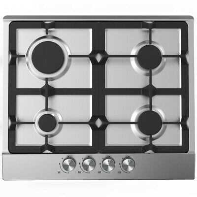 Cookology Gas Hob GH605SS | 60cm, Built-in, Stainless Steel & Cast Iron Supports