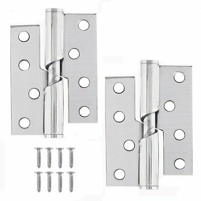 RISING BUTT DOOR HINGES Pair Left Right Handed Lift Hinge STAINLESS STEEL 4 x 3