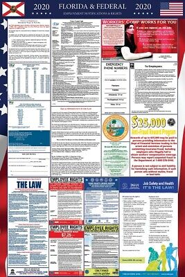 2019 Florida State and Federal Labor Law Laminated Poster