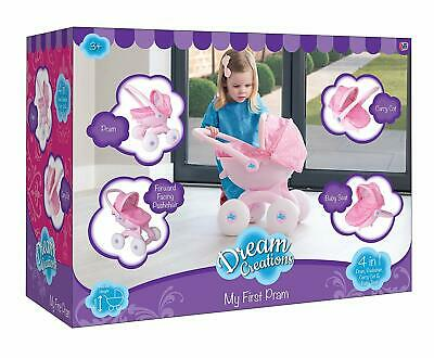 Brand  New Dream Creations 4-in-1 My First Doll Pram