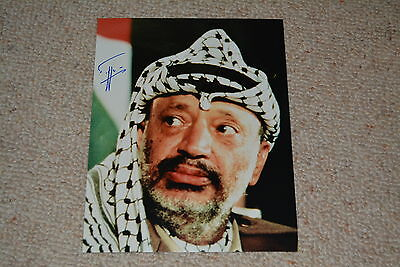 YASSIR ARAFAT signed Autogramm autograph 20x25  In Person FRIEDENSNOBELPREIS +04
