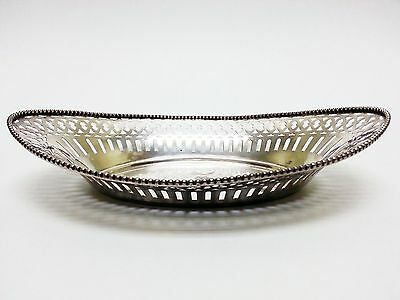 Watson Sterling Silver Reticulated Oval Bread Basket Monogram **202 Grams**