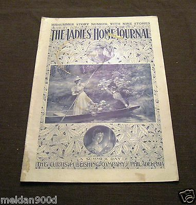 Antique The Ladies' Home Journal Magazine Aug 1898   Issue * SHIPS FREE W/BIN
