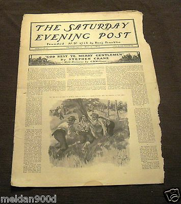 Antique THE SATURDAY EVENING POST Magazine May 6 1899   Issue * SHIPS FREE W/BIN