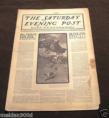 Antique THE SATURDAY EVENING POST Magazine Apr29 1899   Issue * SHIPS FREE W/BIN