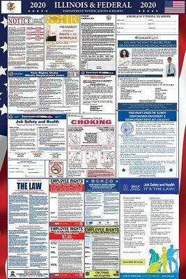 2019 Illinois State and Federal Labor Law Laminated Poster PREORDER