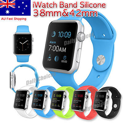 Strap Bracelet Band Silicone Fitness Replacement For Apple Watch iWatch Sport AU
