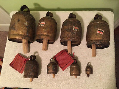 Noah Bell Set including Large Noah Bell, Temple Bell, Maharani, Hand Made India
