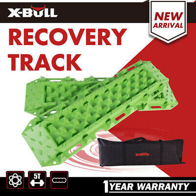 Pair Recovery Tracks Sand Tracks Green Mud Snow Trax Car ATV 4WD X-BULL