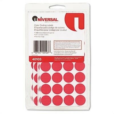 Permanent Self-Adhesive Color-Coding Labels, 3/4in dia, Red, 1008/Pack | 2 Pack