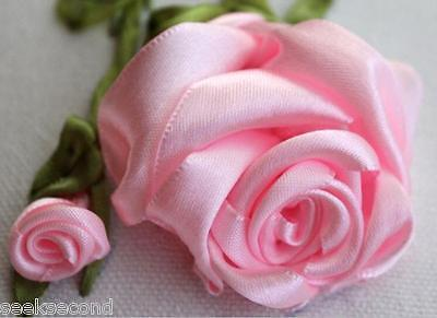 Ribbon Embroidery Kit A Pink Rose For Your Lover Needlework Craft Kit RE3001