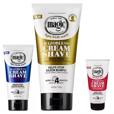 Razorless Hair Removing Cream Shave by Magic- 170g - All Versions - Free P&P