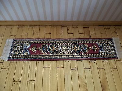 Dolls House Miniatures 1/12th Scale Red D700A Turkish Runner New