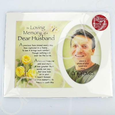 In Loving Memory of a Special Husband Photo Frame Mount Tribute Memorial Plaque