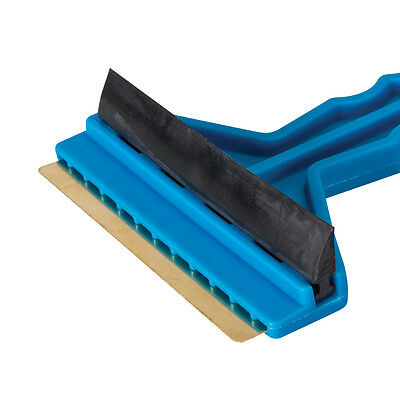 Ice Scraper Brass Blade & Rubber Squeegee For Scraping Ice, Snow Car Windscreens
