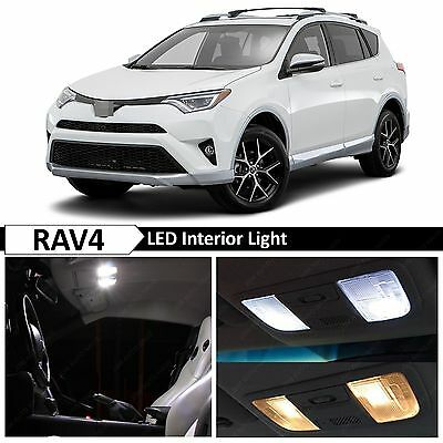 12x White Interior LED Lights Package Kit for 2013-2016 Toyota RAV4 + TOOL