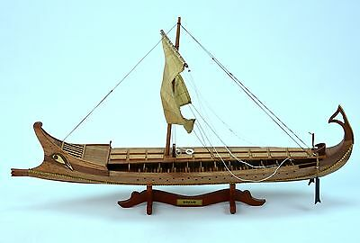 """BIREME Ancient Ship 32"""" - Handcrafted Wooden Ship Model"""