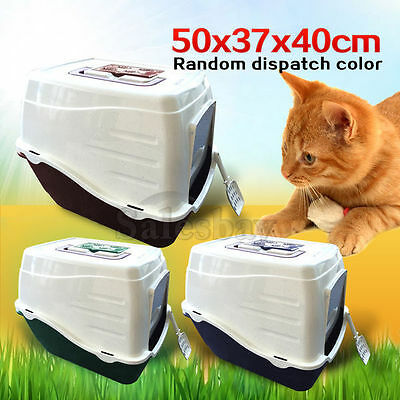 New Portable Hooded Cat Toilet Litter Box Tray House With Handle and Scoop