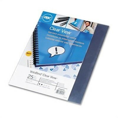 VeloBind Presentation Covers, 11 x 8-1/2, Clear, 25/Pack