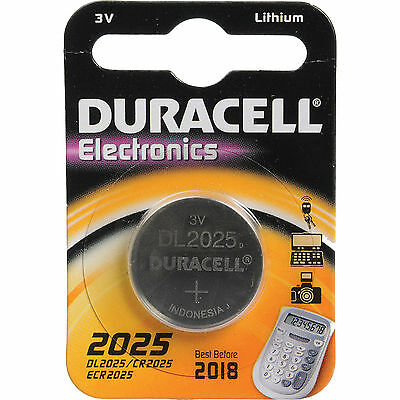 1 x Duracell CR2025 3V Lithium Coin Cell Battery DL2025