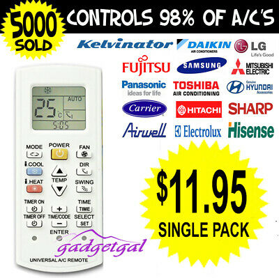Universal A/C Air Conditioning Remote Control Air Con ALL MAJOR BRANDS
