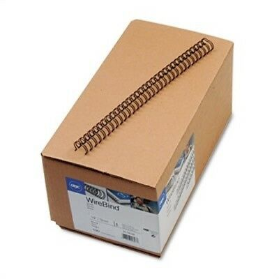"WireBind Spines, 1/2"" Diameter, 100 Sheet Capacity, Black, 100/Box"