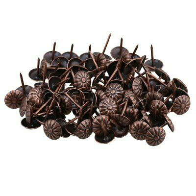 100pcs Vintage Upholstery Nails 11x16mm Bronze Tacks Studs Pins Home Decoration