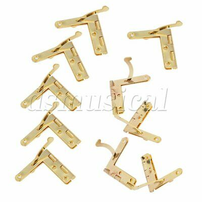 20x Small Metal Spring Hinges with Screws 33x30mm for Miniature Furniture