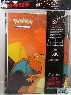 Ultra Pro Pokemon Charizard Pro-Binder Card Holder + 20 Pages For Cards