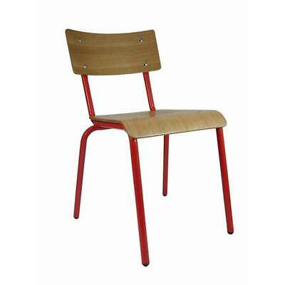 Retro Dining Skinner Chairs Furniture Kitchen Cafe Restaurant Red