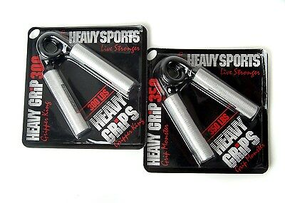 Heavy Grips Men's Hand Grippers (Pack of 2) Sliver/Black Size 150-200