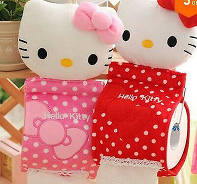 New HelloKitty Home & Bathroom Tissue Bag Case Box Container Roll Paper AA-E552