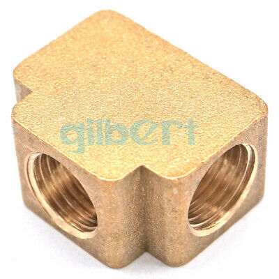 """Tee 3 Ways Brass Pipe fittings Equal Female Connector 1/8"""" 1/4"""" BSP"""
